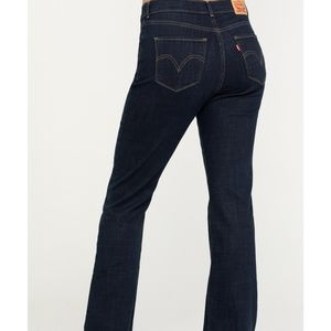 Levi's Classic Boot Jeans Midrise Dark Wash 31